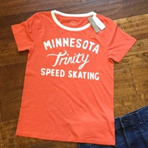 J.Crew Supima Cotton T-shirt Minnesota Skating